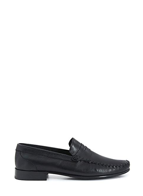 Mocassini %100 Deri Loafer Ayakkabı Siyah